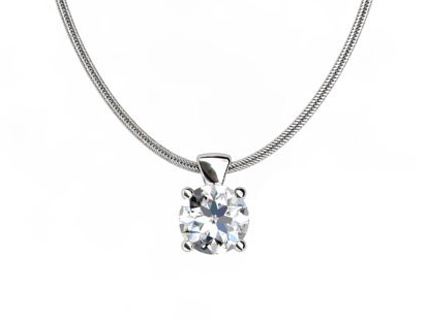 diamond pendant PRCW01 on chain